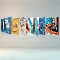 Quality Free Standing Seg Photo Fabric Picture Frames Display For Exhibition Shopping Mall for sale
