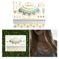 China Fashionable Metallic Necklace Temporary Tattoos Fake Jewerly For Women wholesale
