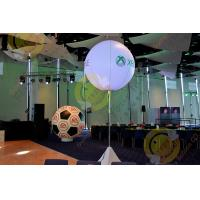 China 2.5m White Attractive Round Inflatable Helium Balloon with RGB LED Lighting wholesale