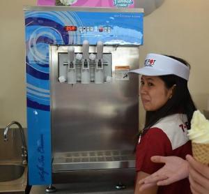 China [Purchased by 7-11]Table top soft ice cream machine/Frozen Yogurt Machine/Helado on sale