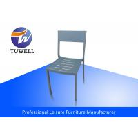 China Outdoor Sturdy Welding Armless Steel Dining Chairs With Heavy Duty wholesale