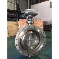 China API609 Large Size Flanged Triple Offset double Butterfly Valve,Stainless Steel Flanged Triple Offset Butterfly Valve wholesale