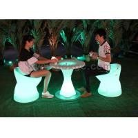 China PE Plastic Waterproof Outdoor Chairs And Stools Led Glowing Furniture wholesale