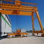 China CE / GOST Single Girder Semi Gantry Crane Outdoor Mobile Rail Mounted wholesale