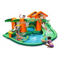 China PVC Tarpaulin Tropical play center, jump castle, water slides for kids in summer wholesale