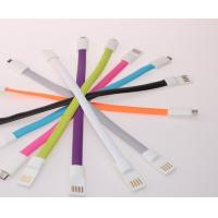 Colorful Magnet Flat USB Cellphone Data Cable for iPhone Android phone