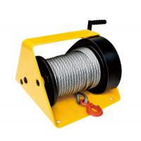 Buy cheap GR2000 Single Drum Worm Gear Winch 1500 - 3000 Lb With Cable Weight 78kg from wholesalers