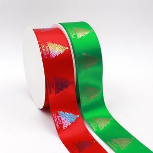 China Red Satin Polyester Foil Custom Logo Print Ribbon wholesale