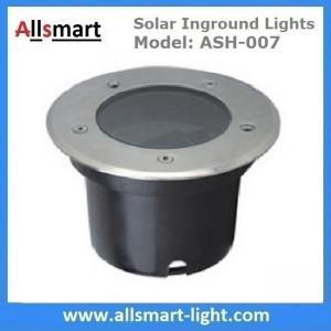 China Φ120x90mm Round Solar Paver Lights Solar Underground Lights Solar In-ground Lights IP68 for Landscaping Plaza Square wholesale
