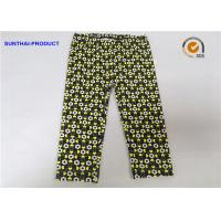 China Color Customized Cute Baby Girl Leggings Heart / Circle Printed Without Side Seam wholesale