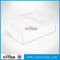 China Hot sale clear transparent sport shoes sneaker acrylic display boxes wholesale