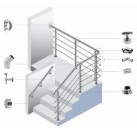 Quality Polished Stainless Steel Stair Handrail Balustrade With CE Certification for sale