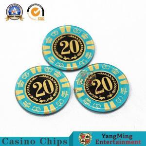China Custom Printing Clay Poker Chip /  RFID Casino Chip Cricular Shaped on sale
