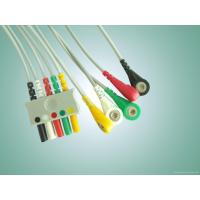China 3/5 Lead Euro type lead wire ,ecg leadwire for all l Euro-Plug System , IEC/AHA snap end wholesale