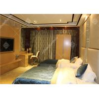 China Hotel Wooden Bed Room Furniture With Wardrobe , Table and Luggage Rack wholesale