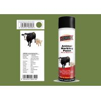 Buy cheap Fridge Green Color Marking Spray Paint , Animal Marking Paint Good Adhesiveness from wholesalers