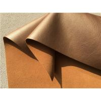 China Decoration Brown Bonded Leather Fabric 35 Meters Each Roll For Hotel , Indoor wholesale