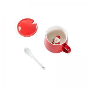 China Glaze 350ml 13x9.5x9cm Christmas Ceramic Mugs wholesale