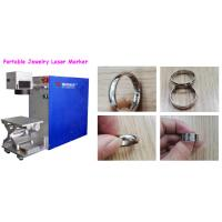 China Small Volume Portable Laser Marking Machine For Ear Ring / Gold Bracelet Bangle wholesale
