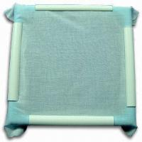 China Plastic Clip Embroidered Frame, Available in Various Sizes and Square or Rectangle Shape wholesale