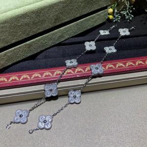 China van cleef high jewelry White Gold Diamond Van Cleef Vintage Alhambra Bracelet 5 Motifs For Girls wholesale