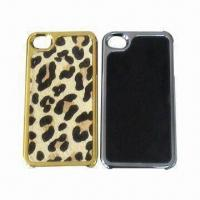 China New Leather Cases for iPhone 4/4S, Customized Colors Accepted wholesale