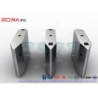 China Electric 316 SS Security Flap Barrier Gate Turnstile Gate With IR Sensor 13.56mhz Card Reader wholesale