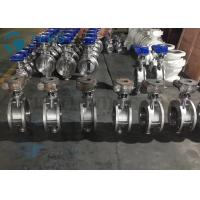 China Metal Seated Butterfly Valve High Performance Double Flange End Triple Eccentric Worm Gear on sale