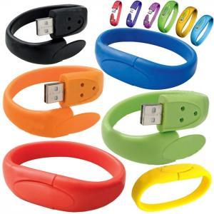 China High Capacity 16GB USB 2.0 Flash Drive Customize Silicone Bracelets wholesale