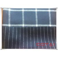 China Navy Midnight Blue Tartan Double Faced Wool Coating Fabric 70 Wool 30 Polyester wholesale