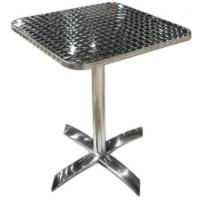 Quality Customized Commercial Aluminum Indoor / Outdoor Table With Rectangular Top for sale