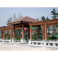 China WPC Prefabricated Garden Pergola Kits Free Standing Color Stability Weather Resistant wholesale