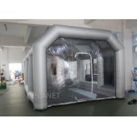 China 8m Oxford Cloth Inflatable Spray Booth With 4 Filters For Car Washing / Painting on sale