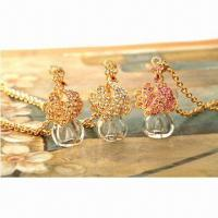 China Top-quality 3-color Gold Filled Necklace Bottles, Ladies