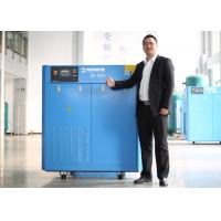 Quality Industrial VFD Air Compressor , Lubricated Rotary Screw Compressor PM Motor 30HP 22kW for sale