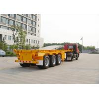 China Three axles 40ton skeleton semi trailer for container shipping , flat bed trailors wholesale