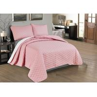 China Beautiful Pink Quilted Coverlet Custom Made Bedspreads Full Size Bedspread wholesale