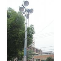 China telescoping aluminum mast portable light tower 12m sectional antenna mast 40ft winch up 800W wholesale