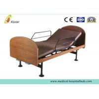 China Wooden 2-function Manual Medical Hospital Beds for Home Use by Steel Construction (ALS-HM003) wholesale