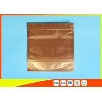 China Plastic Zipper Coffee Packaging Bags , Three Layer Laminated Aluminium Bag For Tea wholesale