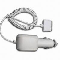 China Car Charger for Mobile Phones, Mini USB Connector, with 1.8mm Spring Cable or 1.5m Retractable Cable wholesale