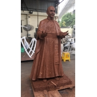 China Chemical Do Color Bronze Human Sculpture ,  Polishing Standing Buddha Statue Hand Forged wholesale