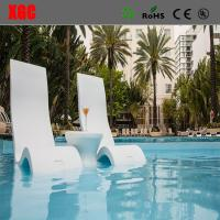 China 15 Inches Pool Use PE Made Chaise In-water Relaxation Sun Lounge New Design Poolside Deep Chaise Lounge wholesale
