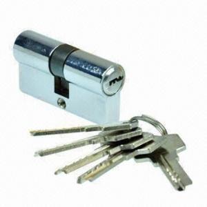 China Tubular EU Standard Key Lock Cylinder, Made of Zinc-alloy wholesale