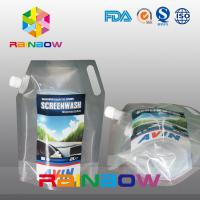 China Printed Logo Custom Liquid Spout Bags Stand Up Pouch With Handle For Car Gas Oil / Gasoline wholesale