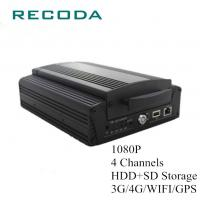 China Full Screen Preview Mobile DVR Camera Systems 1080P 4Ch HDD/SD 4G/WIFI/GPS wholesale