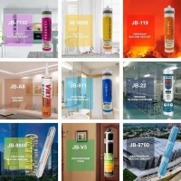 China Building Material 300ml Clear GP Glass Adhesive Sealant JB7132 Uv Resistant Caulk Acetic Silicone Sealant wholesale