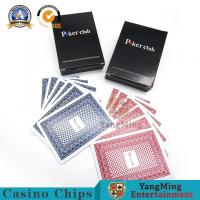 China Water - Proof Texas Hold'Em Poker Playing Cards 88*63mm Deck Red Blue Color on sale