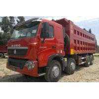 China CNHTChowo DUMP TRUCK Manual Transmission Type and Diesel Fuel Type 8X4 red color wholesale