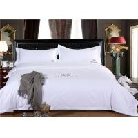 China Smooth Restaurant Or Hotel Bed Linen / White Hotel Collection Bedding wholesale